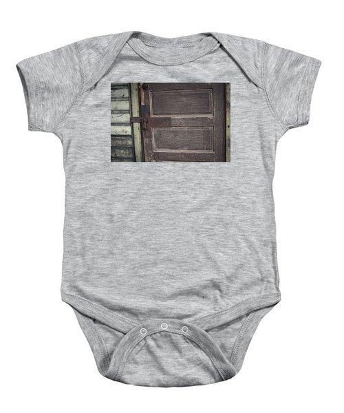 Leather Door Baby Onesie
