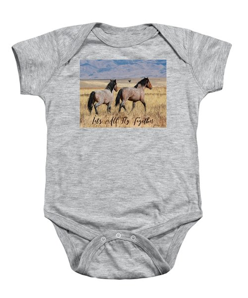 Let's All Fly Together Baby Onesie