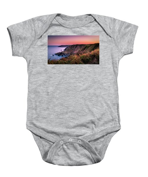 Lizard Point Sunset - Cornwall Baby Onesie