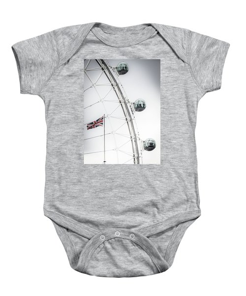 London Eye And Union Jack Baby Onesie
