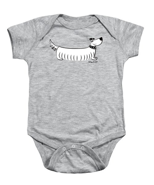 Long Dog Baby Onesie