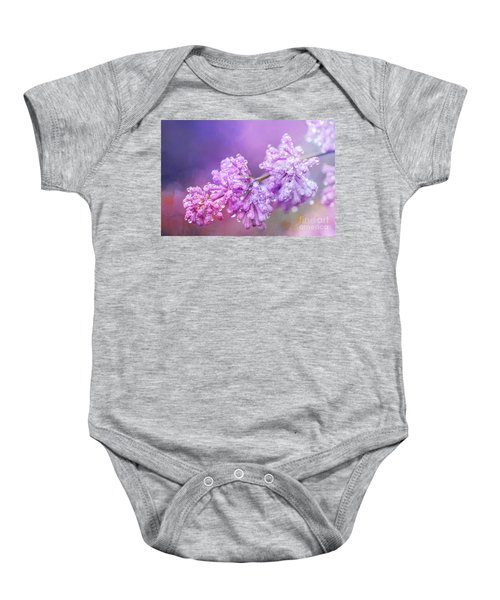 The Magic Of Lilacs In The Rain Baby Onesie