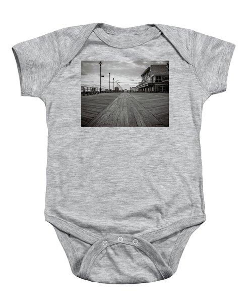 Low On The Boardwalk Baby Onesie