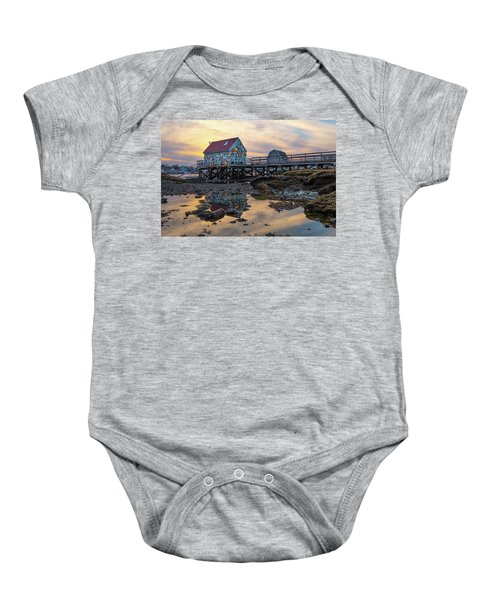 Low Tide Reflections, Badgers Island.  Baby Onesie