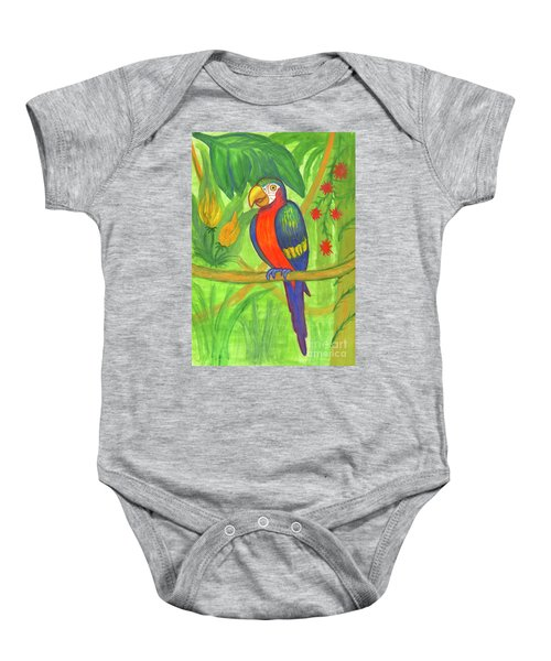 Macaw Parrot In The Wild Baby Onesie