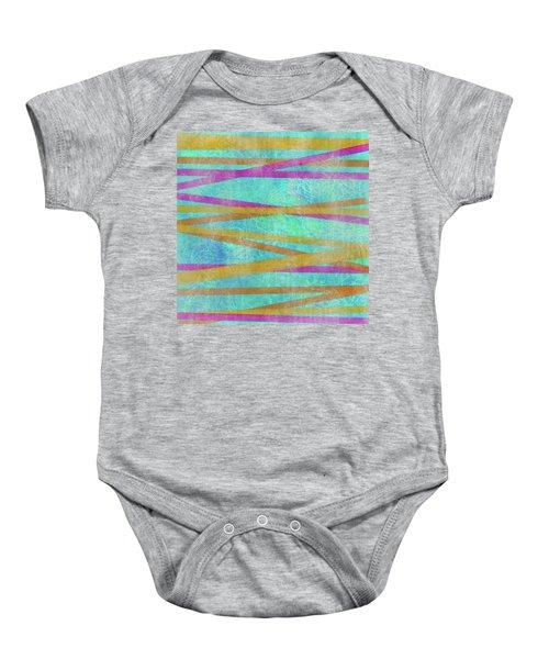 Malaysian Tropical Batik Strip Print Baby Onesie