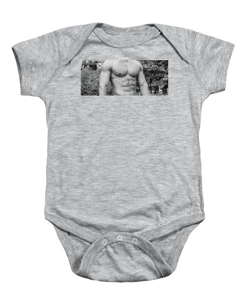 Male Torso 2 Baby Onesie