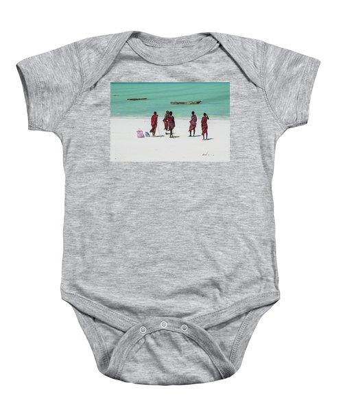 Massai At The Beach Baby Onesie
