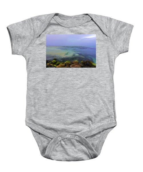 Mayan Sea Rocks Baby Onesie
