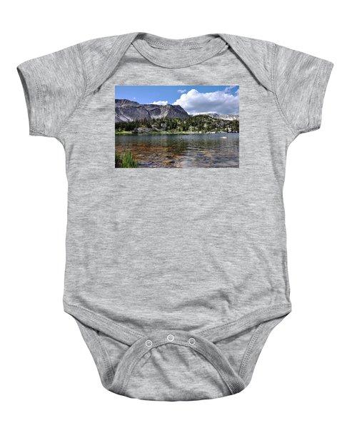 Medicine Bow Peak And Mirror Lake Baby Onesie