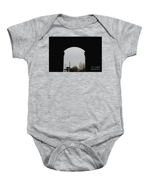minarets in the city for the prayer of the Muslim religion Baby Onesie