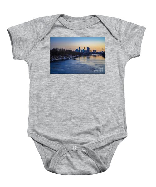Minneapolis Skyline Baby Onesie