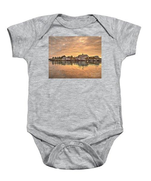 Monhegan Sunrise - Harbor View Baby Onesie
