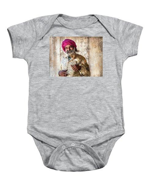 Monkey Temple Baby Onesie