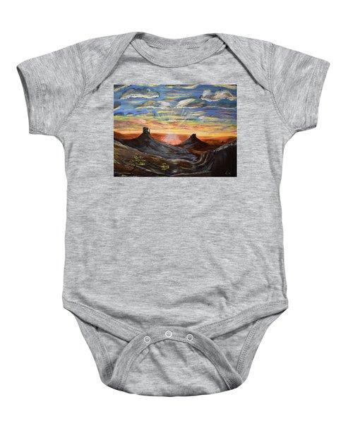 Monument Valley And Kokopelli Baby Onesie