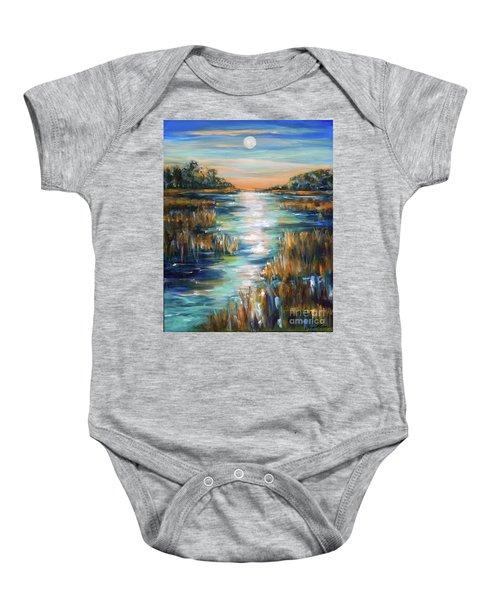 Moon Over Waterway Baby Onesie