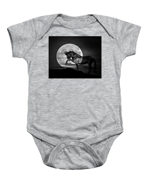 Baby Onesie featuring the photograph Moonlight by Mary Hone