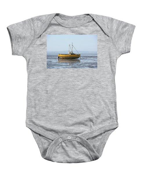 Morecambe. Yellow Fishing Boat. Baby Onesie