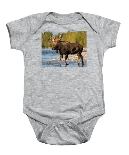 Baby Onesie featuring the photograph Morning At The River by Mary Hone