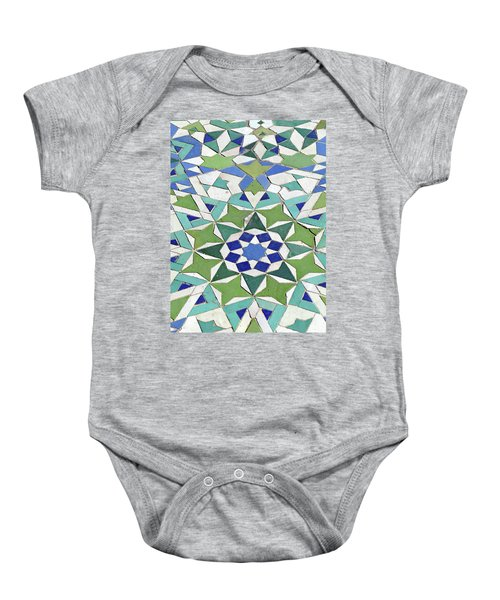 Mosaic Exterior Decorations Of The Hassan II Mosque Baby Onesie