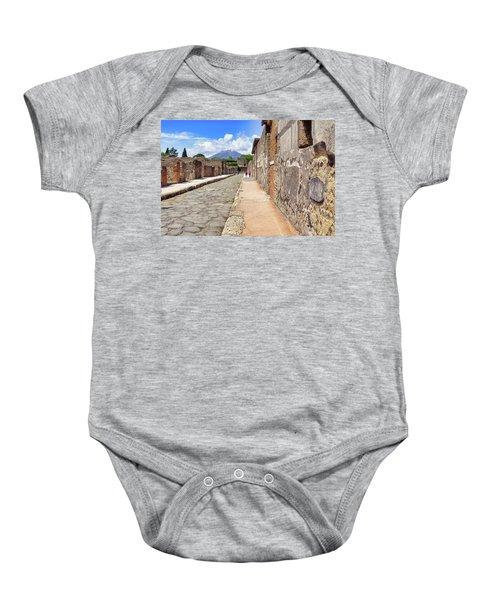 Mount Vesuvius And The Ruins Of Pompeii Italy Baby Onesie