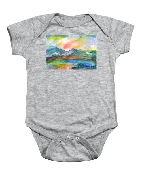 Mountain Lake Baby Onesie