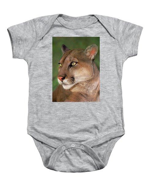 Mountain Lion Portrait Wildlife Rescue Baby Onesie