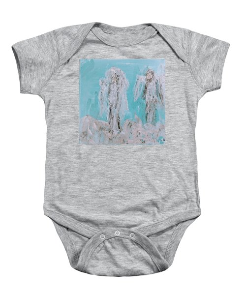 Mr And Mrs Angels Baby Onesie