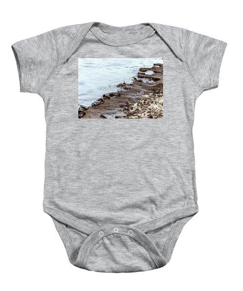 Muddy Sea Shore Baby Onesie