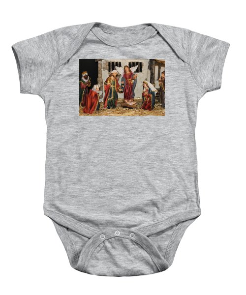 My German Traditions - Christmas Nativity Scene Baby Onesie