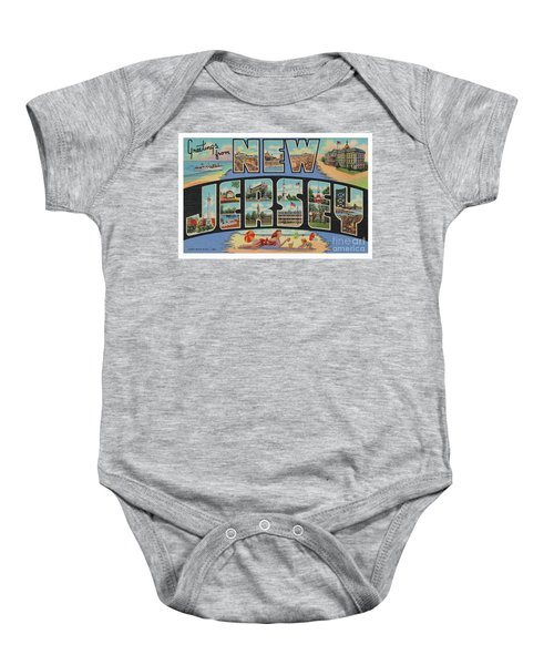New Jersey Greetings - Version 1 Baby Onesie