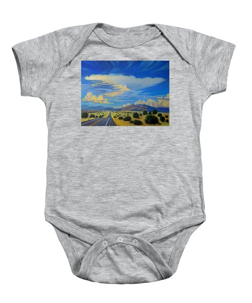 New Mexico Cloud Patterns Baby Onesie