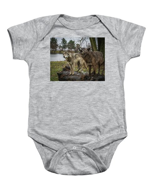 Noisy Wolf Baby Onesie