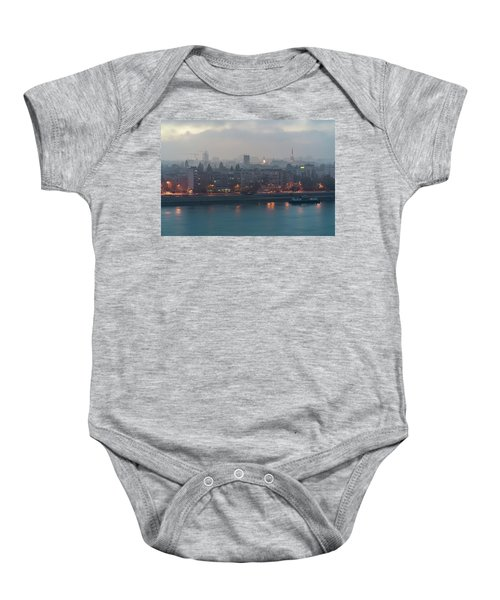 Novi Sad Night Cityscape Baby Onesie