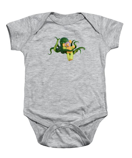Octopus Green And Bear Baby Onesie