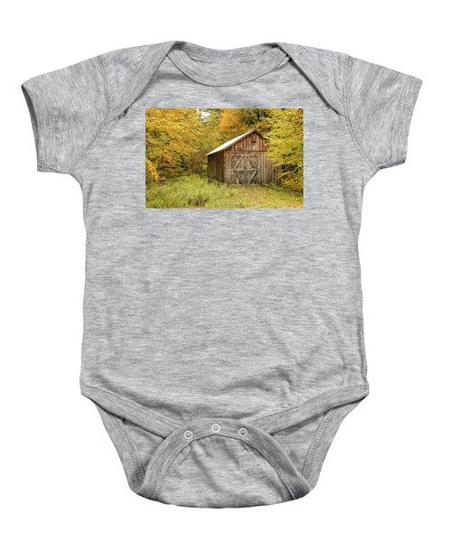 Old Barn New England Baby Onesie