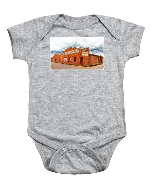 Old Warehouse In Farmville Virginia Baby Onesie