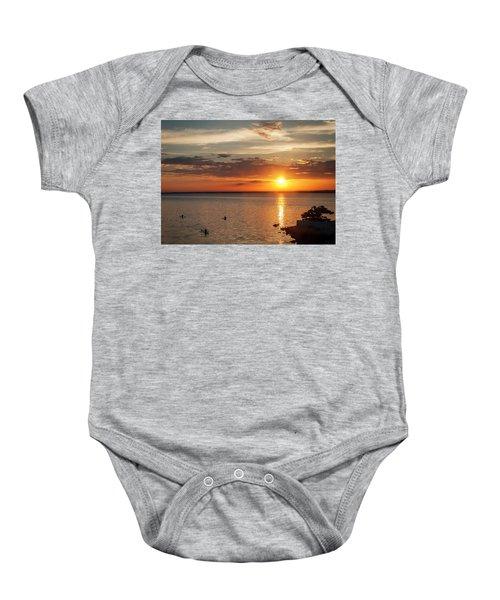 On The Sea Baby Onesie
