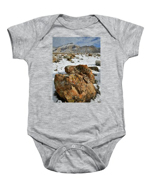 Ornate Colorful Boulders In The Book Cliffs Baby Onesie