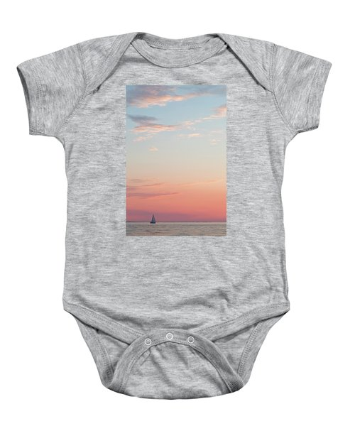 Outer Banks Sailboat Sunset Baby Onesie