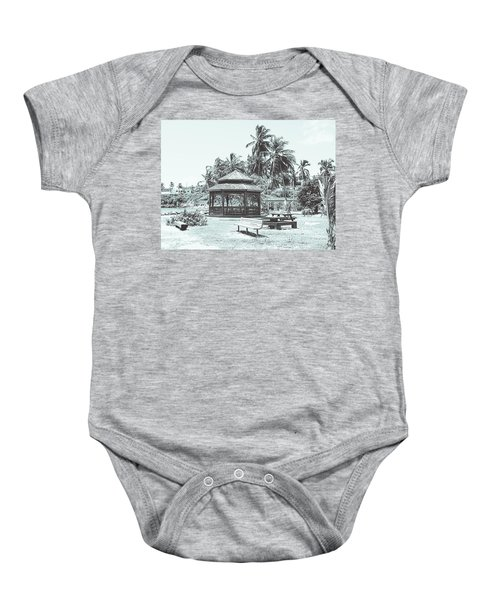 Pagoda On The Sea Baby Onesie