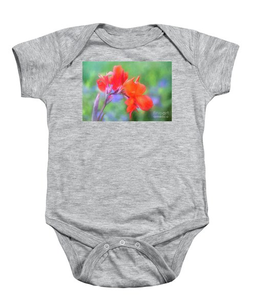 Painted Canna In The Evening Light Baby Onesie