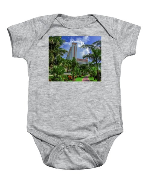 Palms At The Riu Cancun Baby Onesie