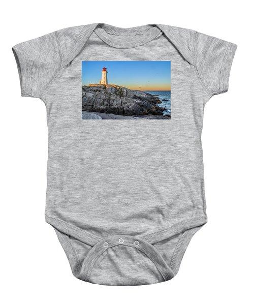Peggys Cove Lighthouse Baby Onesie