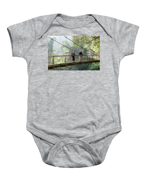People And Children From Sapa, Mountainous Area Of Northern Vietnam In Their Daily Life. Baby Onesie