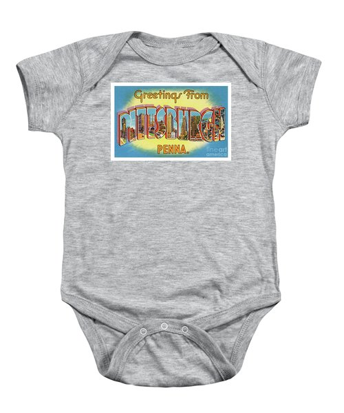 Pittsburgh Greetings Baby Onesie