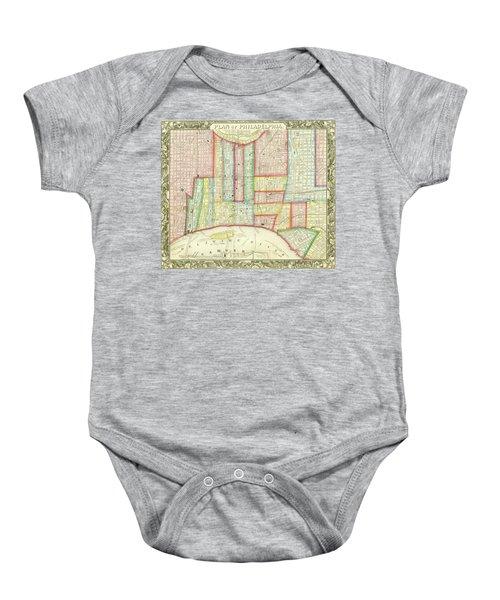 Plan Of Philadelphia, 1860 Baby Onesie