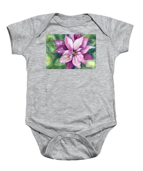 Poinsettia Baby Onesie
