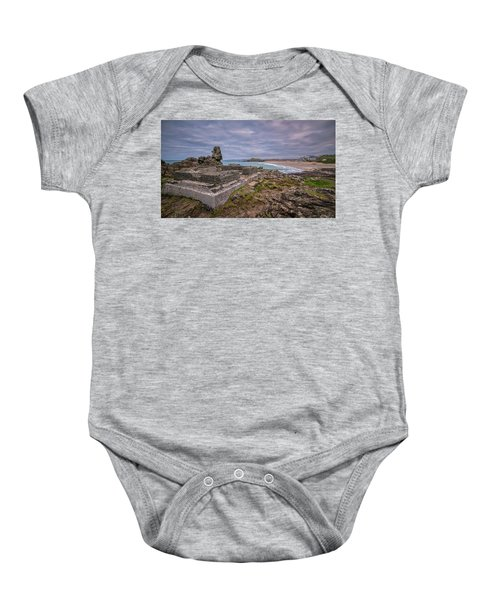 Porthmeor Beach January View Baby Onesie