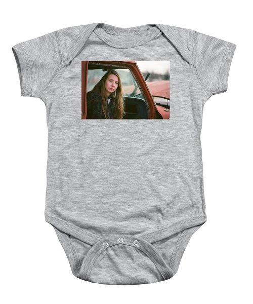 Portrait In A Truck Baby Onesie
